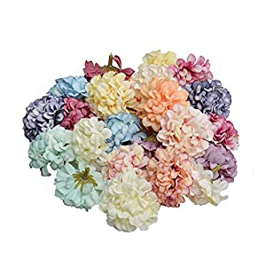 10Pcs 4.5CM Silk Hydrangea Handmade Artificial Flower Head Wedding Party Home Decoration DIY Wreath Gift Box Scrapbook Craft 88