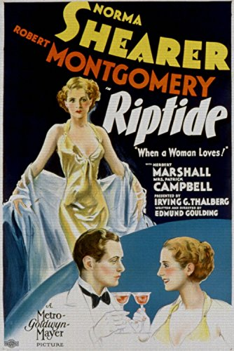 Riptide, Norma Shearer, Robert Montgomery, 1934 - Premium Movie Poster Reprint Unframed