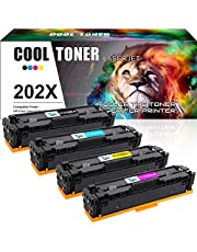 $102 » Cool Toner Compatible Toner Cartridge Replacement for HP 202X CF500X 202A CF500A for HP M281fdw HP Laserjet Pro M254dw MFP M281cdw M281fdw M281dw M280nw M254 M281 Toner Printer Ink (KCMY-4 Packs)
