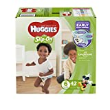 HUGGIES LITTLE MOVERS Slip-On Baby Diapers, Size 6, 42ct
