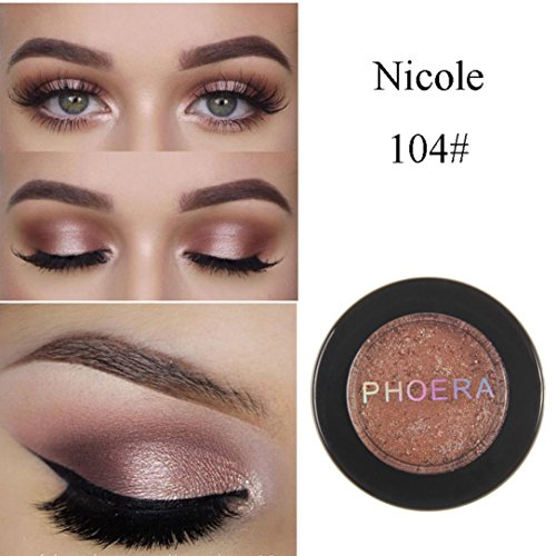 Exteren Natural Eye Shadow Makeup Shimmering Cosmetic Pearl Metallic Smoky Eyeshadow Palette (D)
