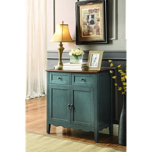Charmant Coaster Home Furnishings Coaster 101046 Wine Cabinet, Vintage Blue