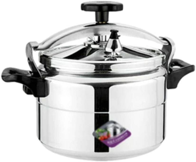 Wok Commercial high-capacity pressure cooker General household gas induction cooker Explosion-proof open flame small pressure cooker Family restaurant outdoor 3-18L (Color : Silver, Size : 18L)
