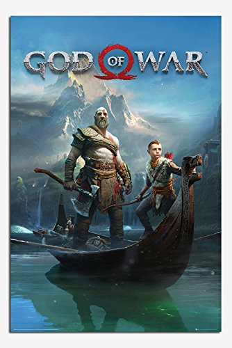 God Of War Key Art Gaming Poster Satin Matt Laminated - 91.5 x 61cms (36 x 24 Inches)