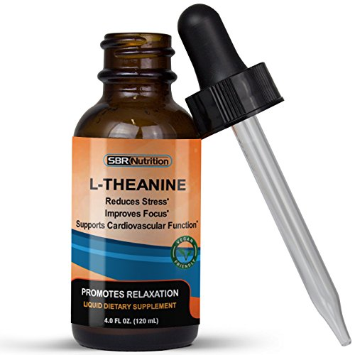 (MAX Absorption Liquid L-Theanine Drops | All Natural, Vegan, Alcohol Free, Non-GMO | for Stress Relief, Relaxation, Focus Without Drowsiness | Synergistic with Coffee or Caffeine)