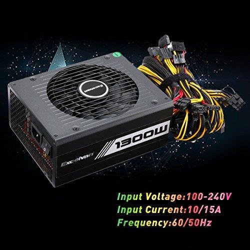 Excelvan Computer Modular Power Supply/PSU for PC/Desktop/ Gaming Computer,1300 Watt 80+ Bronze Certified PSU with Silent Fan,3-Year Warranty by Excelvan (Image #5)
