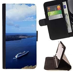 For HTC One M8,S-type Naturaleza Hermosa Forrest Verde 92- Dibujo PU billetera de cuero Funda Case Caso de la piel de la bolsa protectora