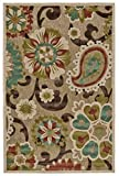 Cheap Feizy Rugs 5913448FTANBRNA20 Lucka Collection Imported Area Rug, 2'1″ x 4′, Tan/Brown