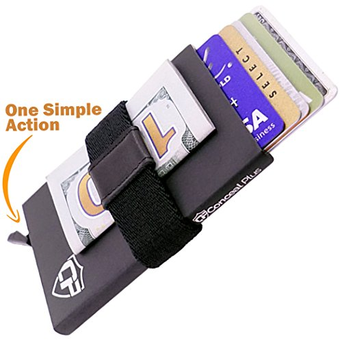 Card Blocr Plus Cool Money Clip | RFID Blocking Thin Slim Aluminum Credit Card Wallet for Identity Protection | Best Minimalist Wallet Front Pocket Design | Mens and Womens 5 Unique Colors