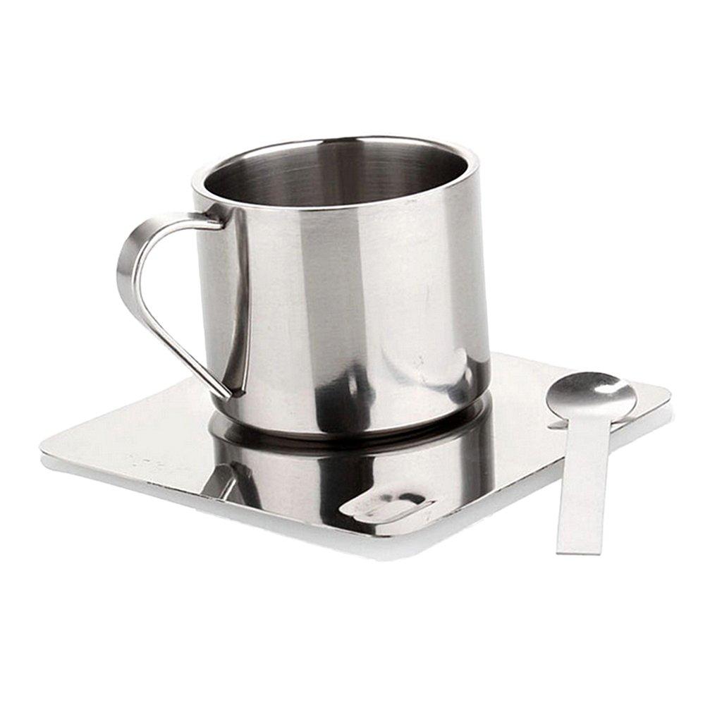 Homyl Stainless Steel 100ML Mug Cup Coffee Milk Outdoor Camping Travel Drinkware