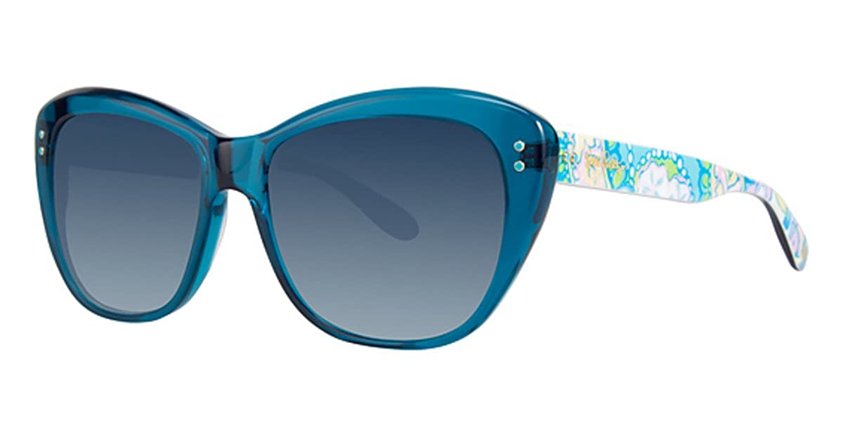Lilly Pulitzer MONTEREY SUN 55 Ocean Blue at Amazon Womens ...
