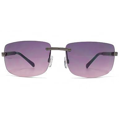 a8dcfd403ca Karen Millen Square Rimless Sunglasses in Shiny Gunmetal KML166   Amazon.co.uk  Clothing