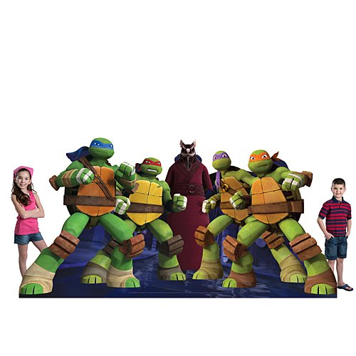 4 ft. 7 in. TMNT Teenage Mutant Ninja Turtles Standee Standup Photo Booth Prop Background Backdrop Party Decoration Decor Scene Setter Cardboard Cutout]()