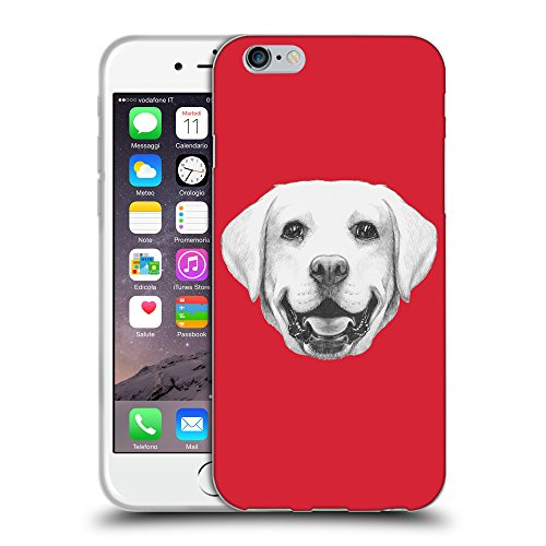 GoGoMobile Coque de Protection TPU Silicone Case pour // Q05370601 Portrait labrador Alizarine // Apple iPhone 6 4.7""