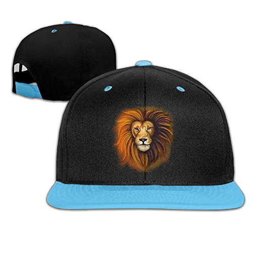Hip Hop Baseball Caps Lion Head Trucker Flat Hat For Boy Girls by Oopp Jfhg
