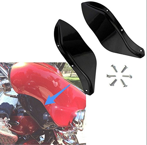 Black ABS Side Wings Air Deflectors Fairing Side Cover Shield For Harley Davidson Touring FLHR FLHT FLHX 1996-2013