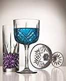 Godinger Champagne Coupe Barware Glasses - Set of