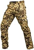 Krypek Men's Tactical Stalker Pants with Side Pocket, Highlander, XX-Large