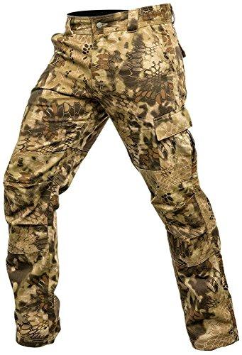 Krypek Men's Tactical Stalker Pants with Side Pocket, Highlander, XX-Large by Kryptek