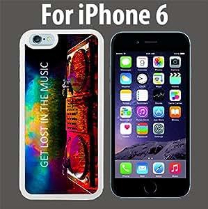 Get Los in Music EDM Custom Case/ Cover/Skin *NEW* Case for Apple iPhone 6 - White - Rubber Case (Ships from CA) Custom Protective Case , Design Case-ATT Verizon T-mobile Sprint ,Friendly Packaging - Slim Case