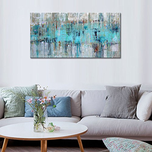 Cheap Large Wall Art For Living Room Gray Green Abstract Painting