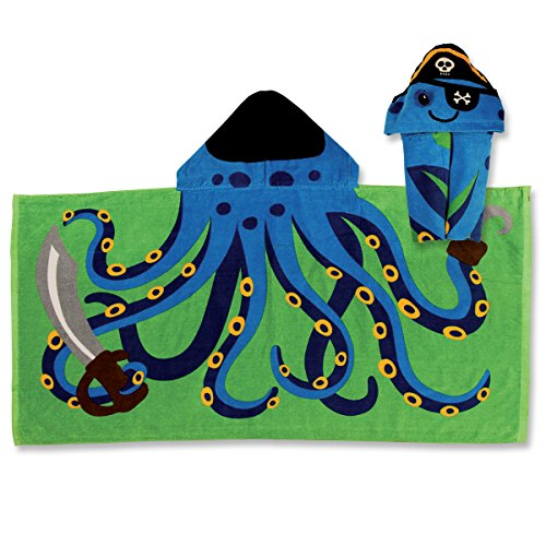Stephen Joseph Hooded Towel, Octopus