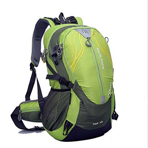 Wmshpeds Montañismo bag 40L bolsa para hombro soporte exterior escalada mochila al hombro impermeable mochila equitación deportes E