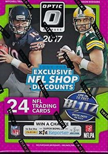 (2017 Donruss Optic Football Blaster Box (6 Packs of 4 Cards: 3 Rated Rookies, 3 Rookies, 4 Parallels)