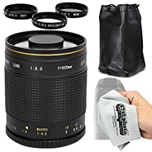 Super 500mm f/8 HD Mirror Telephoto Zoom Lens for Olympus EVOLT E-5, E-520, E-510, E-500, E-450, E-420, E-410, E-400, E-330 and E-300 Digital SLR Cameras