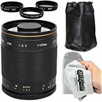 Super 500mm f/8 HD Mirror Telephoto Zoom Lens for Canon EOS 70D, 60D, 60Da, 50D, 40D, 30D, 1Ds, Mark III II, 7D, 6D, 5D, 5DS, Rebel T6s, T6i, T5i, T5, T4i, T3i, T3, T2i, SL1 Digital SLR Cameras