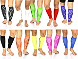 SureSport® Men's and Women's True Graduated Calf Compression Sleeves - 18-25 mmHg Medical Grade (Medium, Black) Great for Shin Splints - Ideal uses include Crossfit, Basketball, Running, Baseball, Walking, Cycling, Training and Travel - Increases Circula