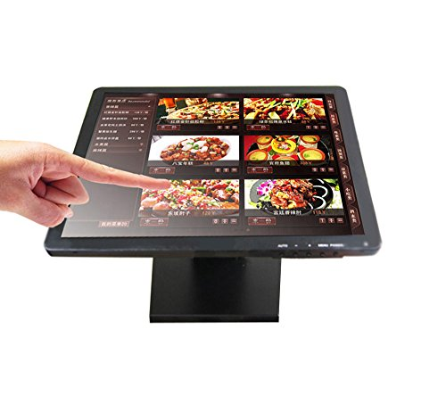 "Sican 15"" inch VGA Touch Screen Touchscreen LCD Monitor POS USB Port Built In Speaker"