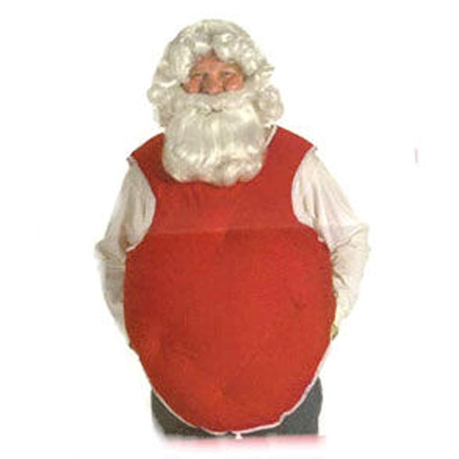 Men's Red Santa Suit Stuffer Tummy Pad - DeluxeAdultCostumes.com
