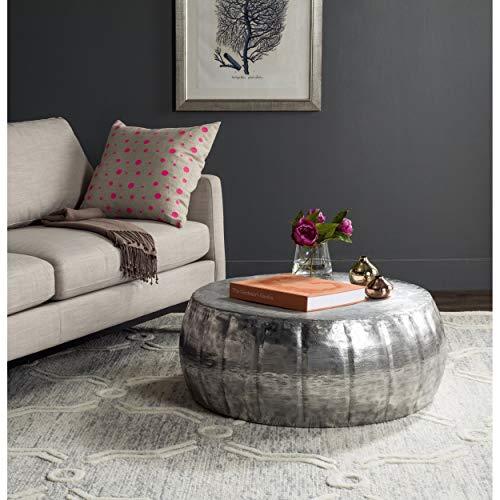 Safavieh FOX3239A Home Collection Dara Coffee Table, Silver ()