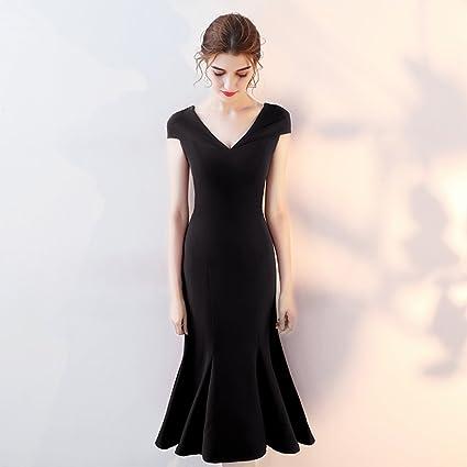 Vestido de noche Rojo/Vino Rojo/Negro Novia Verano Casar Compromiso Vestido Formal Banquete