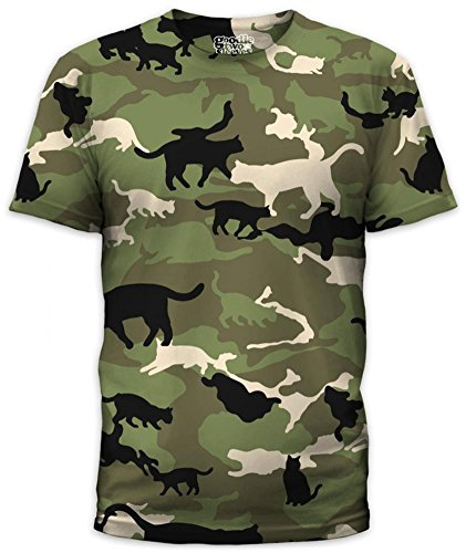 Goodie Two Sleeves T-shirts (Catmouflage (slim fit) T-Shirt Size L)