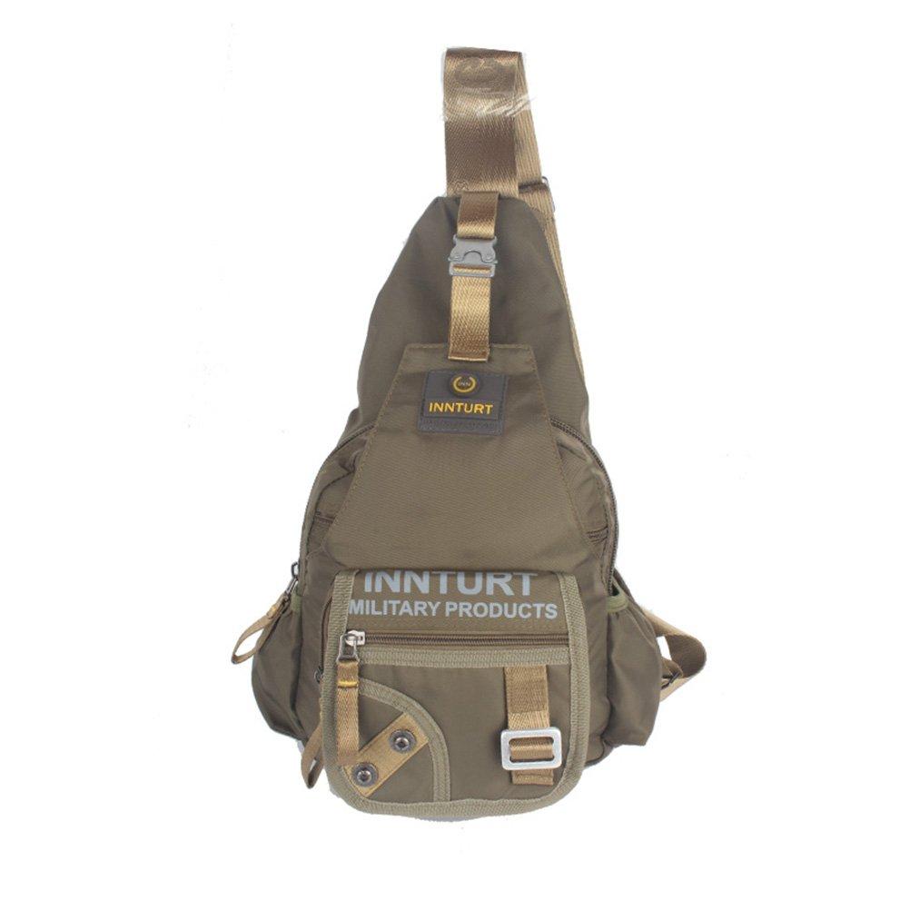 Innturt Nylon Sling Bag Backpack Shoulder Messenger (Large - Army Green)