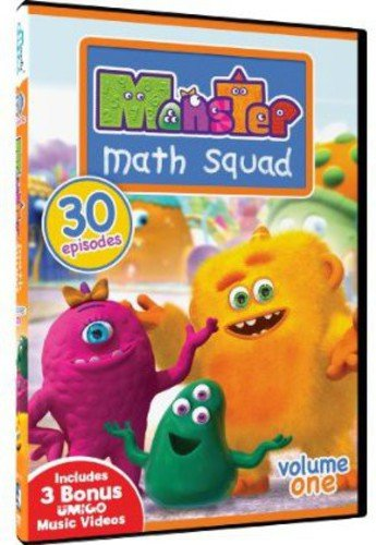 DVD : Monster Math Squad: Volume One - 30 Episodes (3 Pack, 3PC)