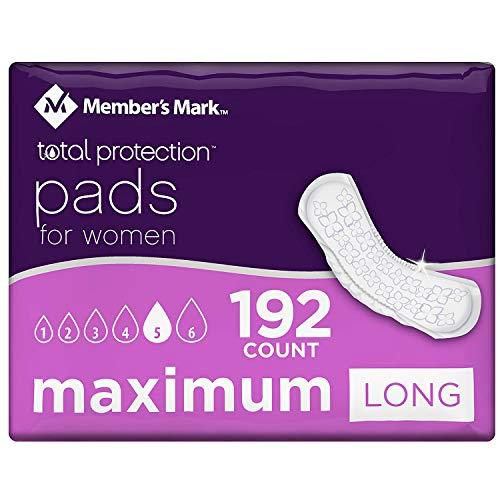 Member's Mark Total Protection Maximum Long Pads (192 ct.)
