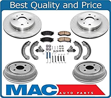 Rear Brake Drums /& Shoes OE Replacement For Saturn SC Saturn SC1