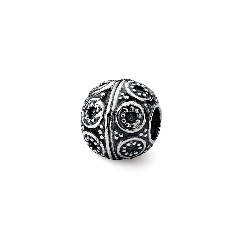 FB Jewels Solid 925 Sterling Silver Artisan Bead