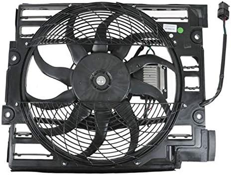 A//C Radiator Condenser Cooling Pusher Fan For BMW 540i 525i 530i 64546921395