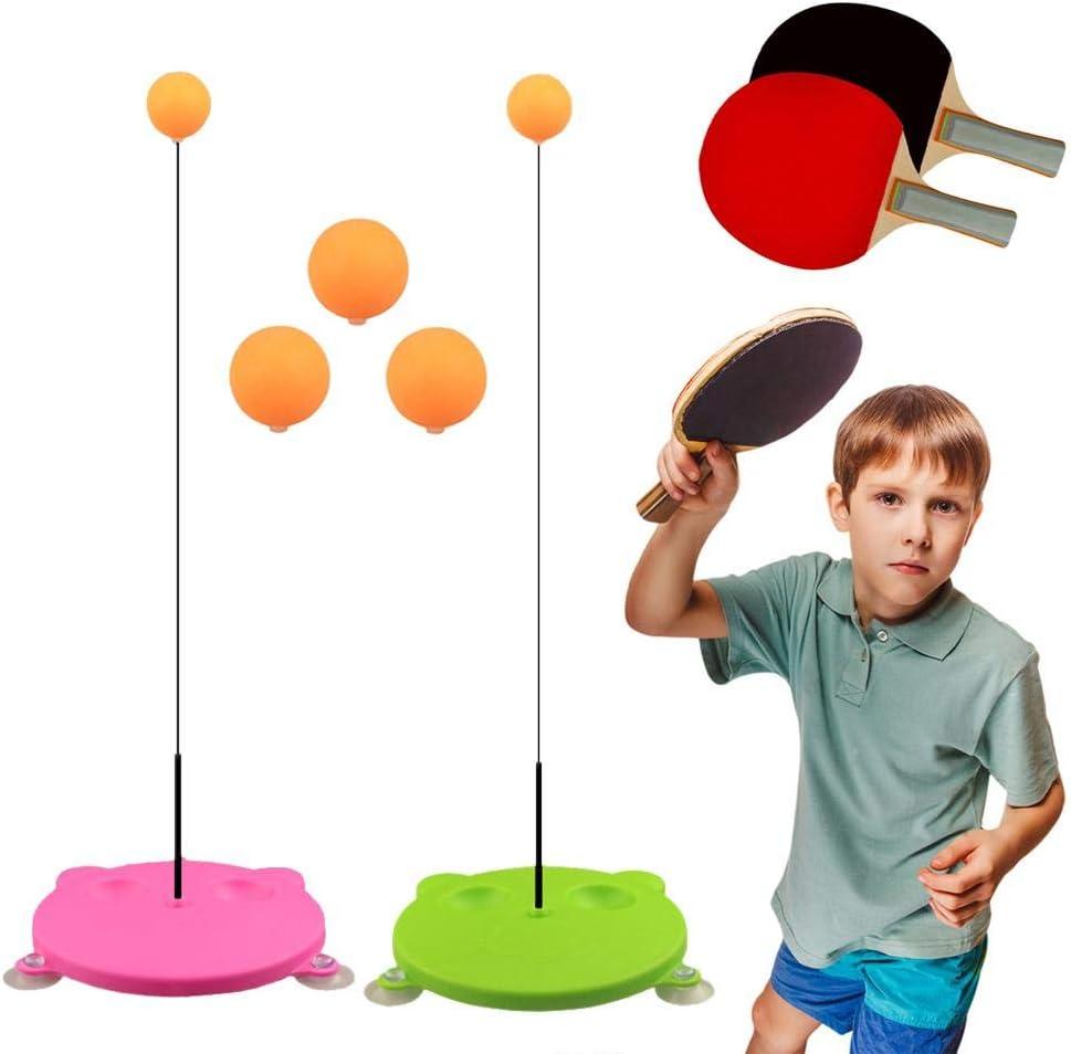 UNIIKE Mesa de Ping Pong Trainer con elástico Suave del Eje Equipo portátil de Ping-Pong Juego Set para Adultos de los niños Deporte al Aire Libre de Interior