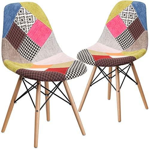 Flash Furniture 2 Pack Elon Series Milan Patchwork Fabric Chair