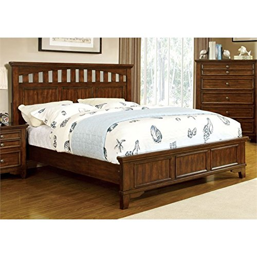 Furniture of America Arnell Panel Bed, California King, Cherry