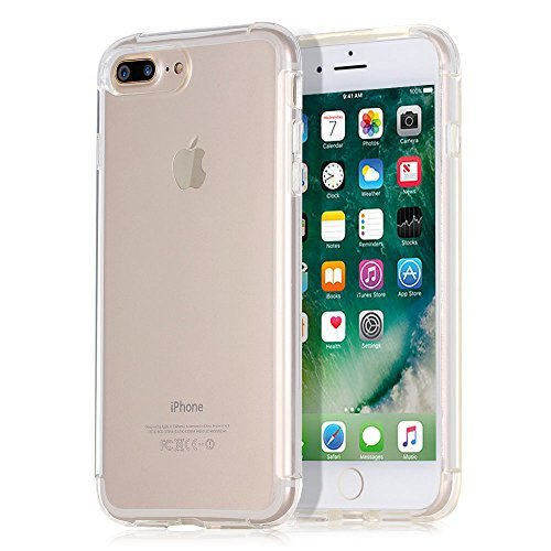 iPhone 7 Plus Case, Walcase [Clear Cushion][Shockproof][Anti-scratch] Soft TPU Transparent Bumper Case Back Cover for 5.5 Inch iPhone 7 Plus Generation 2016 [Crystal Clear]