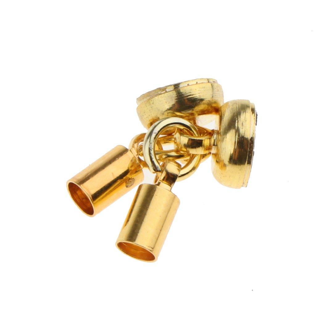 sharprepublic 5pcs Gold Plated Magnetkugel Mit Glocken Verschl/üssen F/ür Die Kettenschmuckherstellung