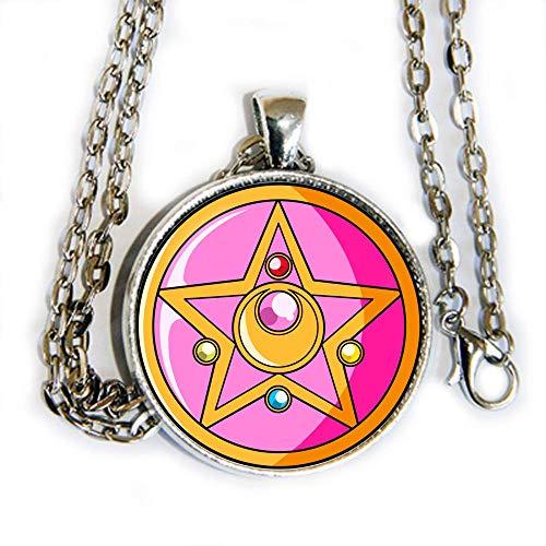 Sailor Moon star compact image - pendant necklace - HM]()