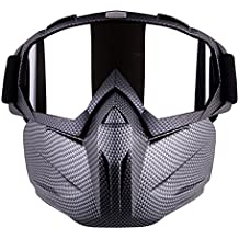 Freehawk Motorcycle Goggle Mask - Tactical Glasses with Detachable Mask for Airsoft/ CS/Paintball/Skiing/Riding/Snowmobile/Cycling/Halloween/Costume Ball