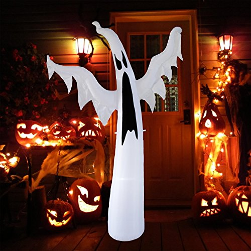 BestParty 8ft Halloween Decorations Inflatable Scary Ghost Ideas for Party Yard Outdoor -